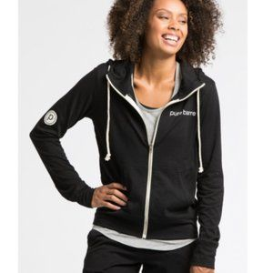 Pure Barre Zip Up Hoodie Sweatshirt Sz XS